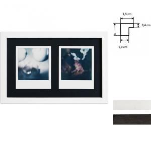 Ram för 2 direktbilder - typ Polaroid 600