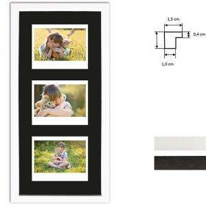 Ram för 3 direktbilder - typ Instax Wide