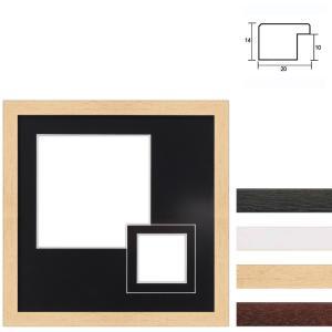 Galleriram av trä i 30x30 cm för 2 foton