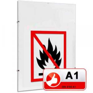 Klassificerad standard A1 brandskyddsram Clipsramar