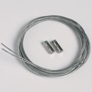 2 stycken stållina 1,3mm/200cm med skruvglidfötter