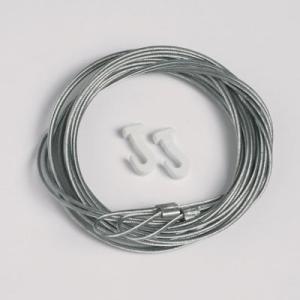 2 stycken stållina 1,3mm/200cm med slinga och glidkrok