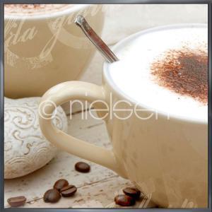 """Inramad bild """"Coffee I"""" med aluminiumram Alpha"""