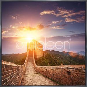 "Inramad bild ""Chinese Wall"" med aluminiumram Alpha"
