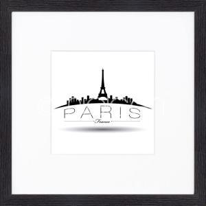 """Inramad bild """"Paris"""" med träram Quadrum"""