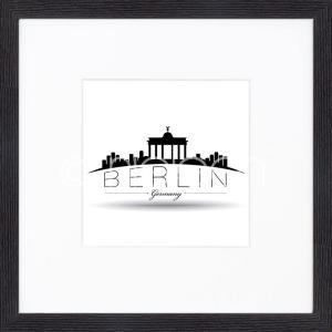 """Inramad bild """"Berlin"""" med träram Quadrum"""