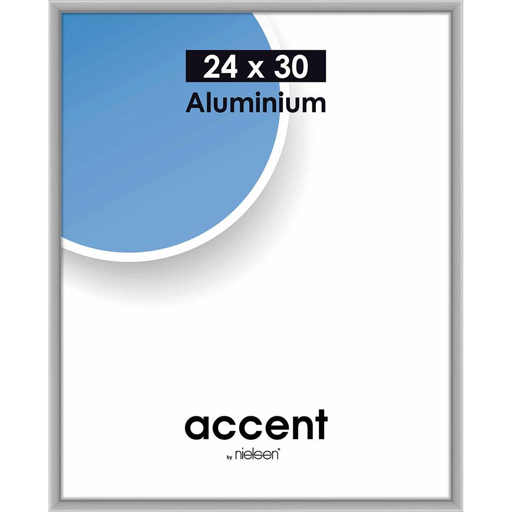 Aluminiumram Accent 24x30 cm   silver matt   standardt glas