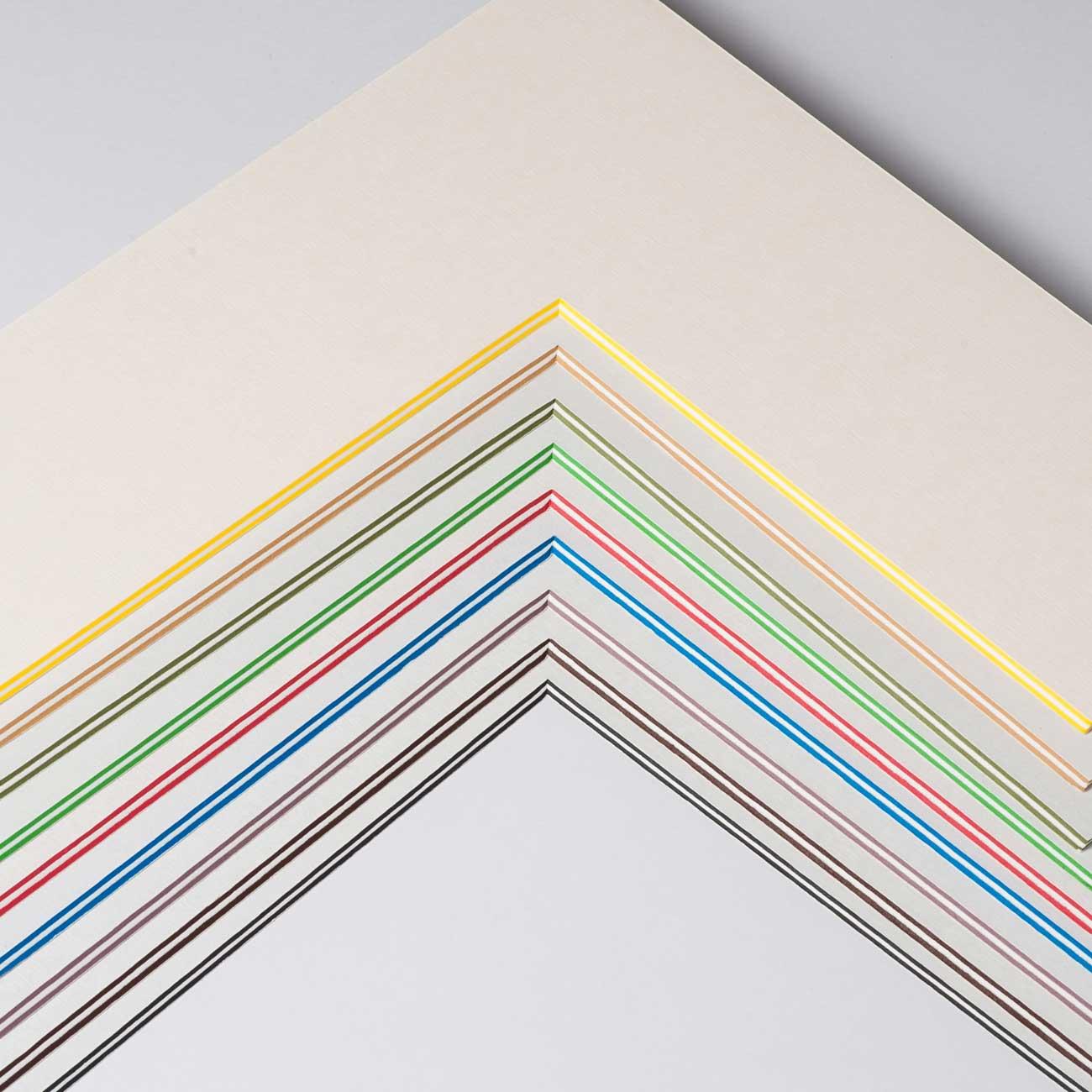 2,2 mm ColorCoreStripe passepartout måttbeställd