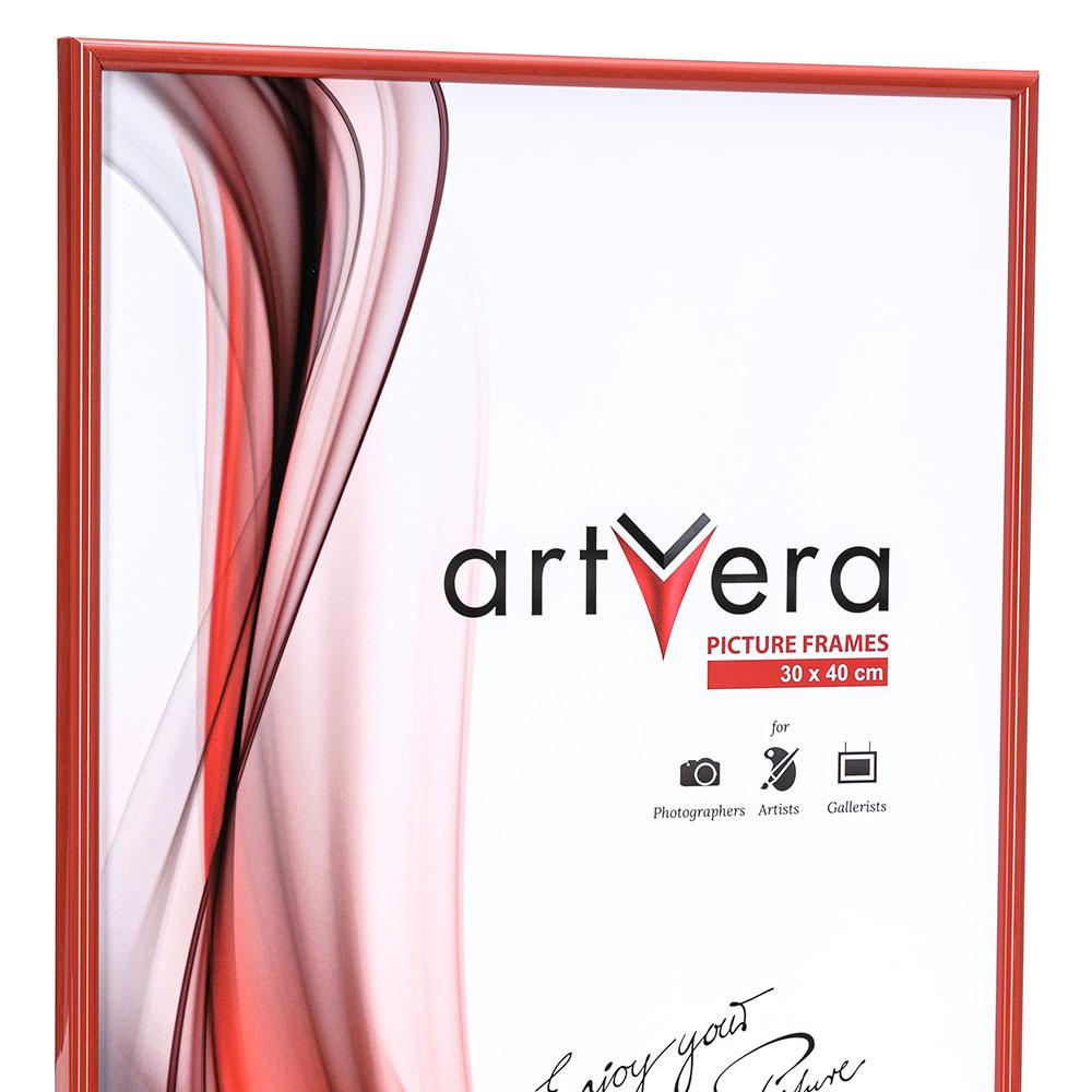 "Sverigelist ""Malmö"" av plast 30x45 cm | röd | standardt glas"