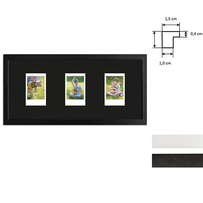 Ram för 3 direktbilder - typ Instax Mini