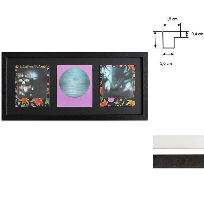 Ram för 3 direktbilder - typ Polaroid 600