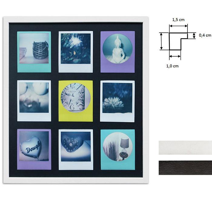Ram för 9 direktbilder - typ Polaroid 600