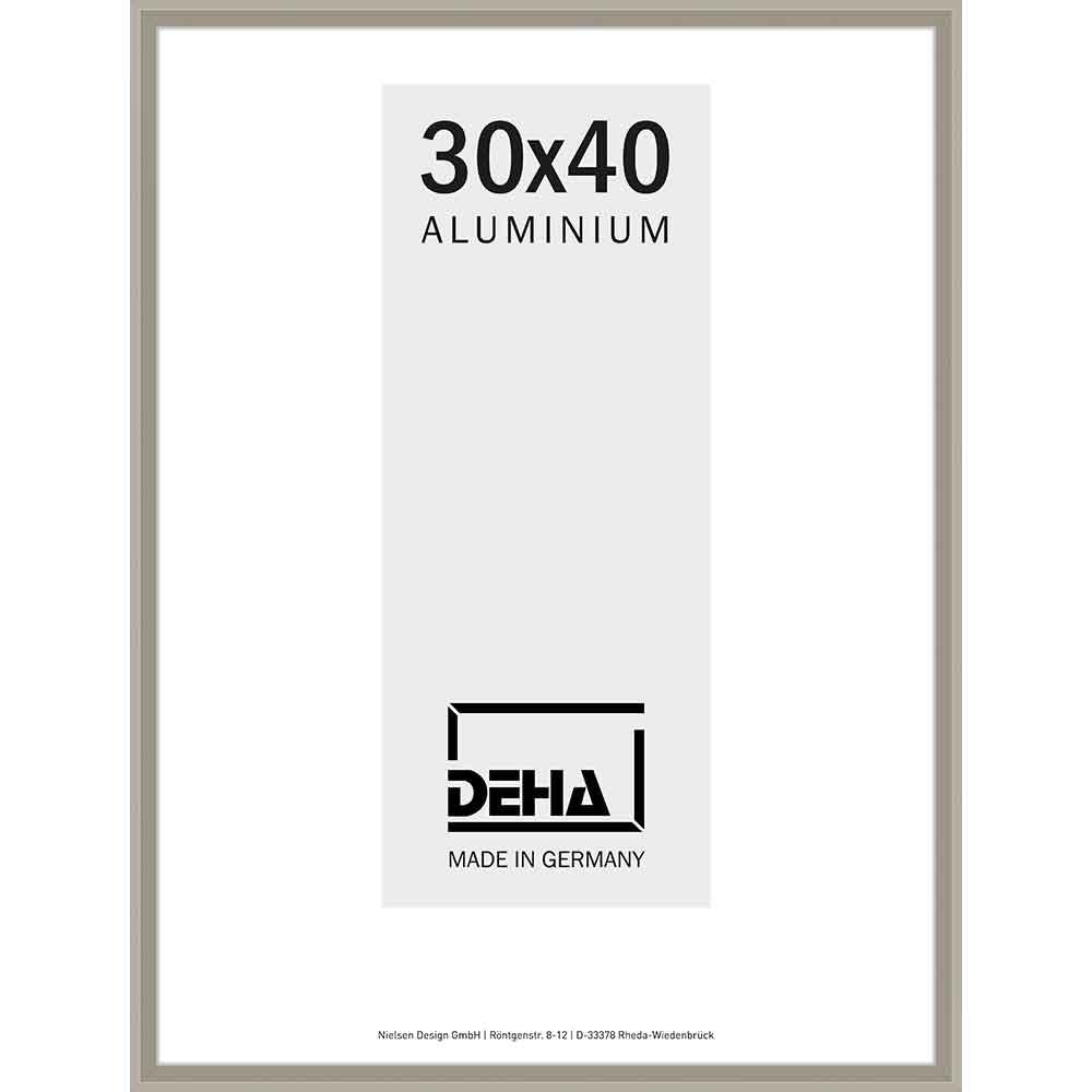 Aluminiumram Mizar 60x70 cm | antiksilver | Konstglas