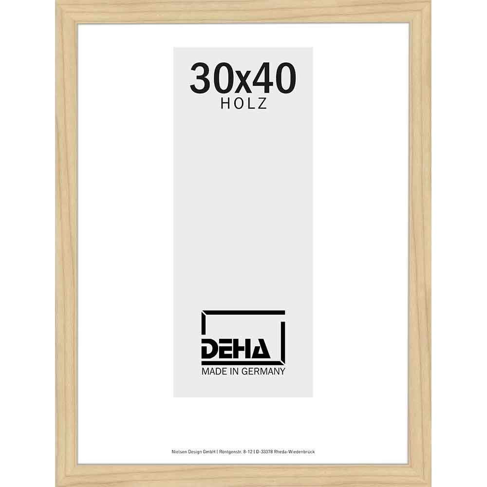Distans-Träram Winnecke 20x28 cm | lönn natur laserad | Konstglas