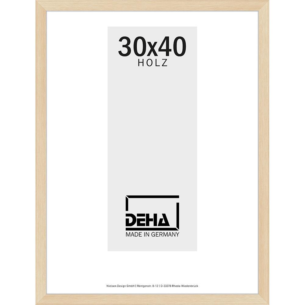 Distans-Träram Bunda 20x28 cm   ask, naturlaserad   standardt glas