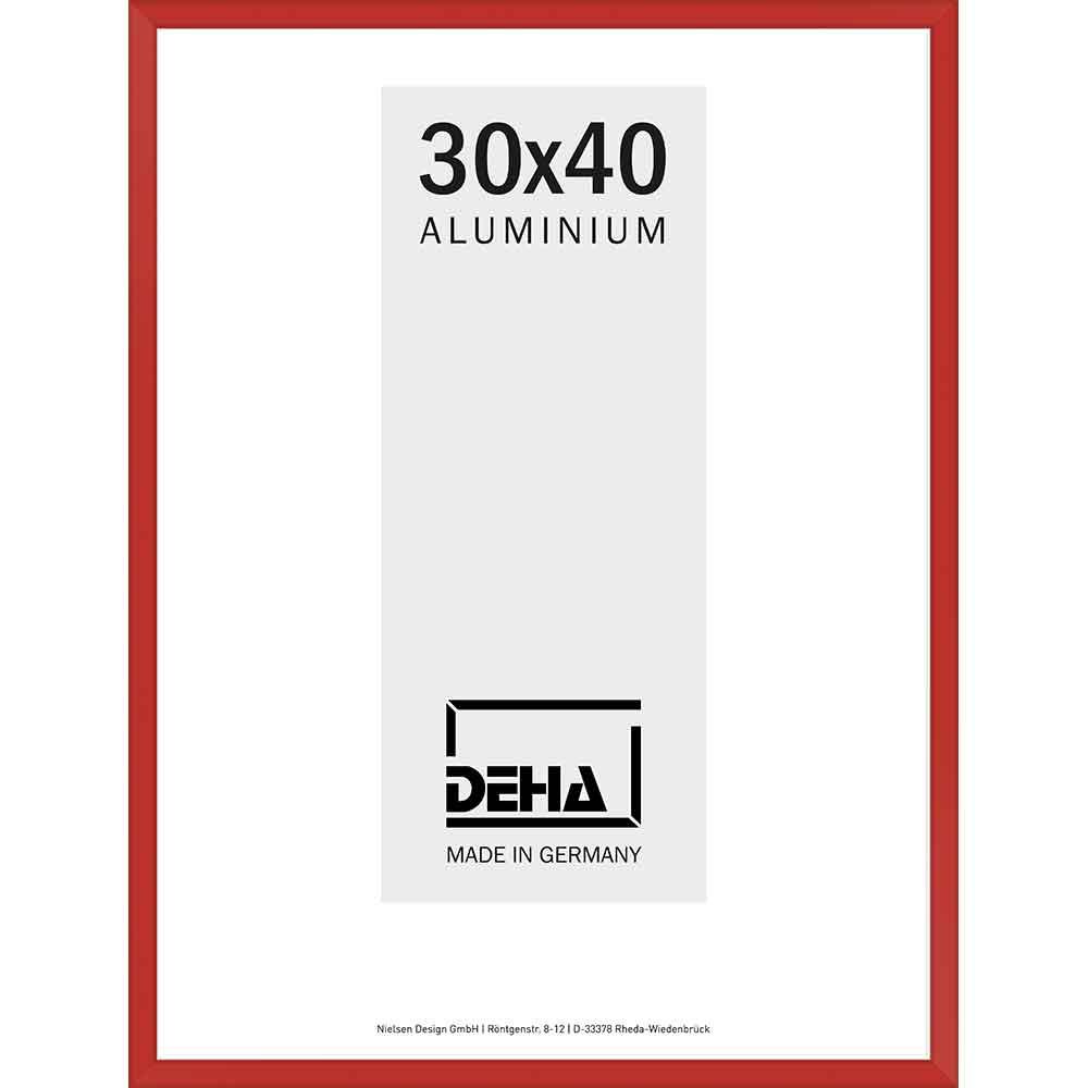 Aluminiumram Atria 55x70 cm | karminröd RAL 3002 | Konstglas