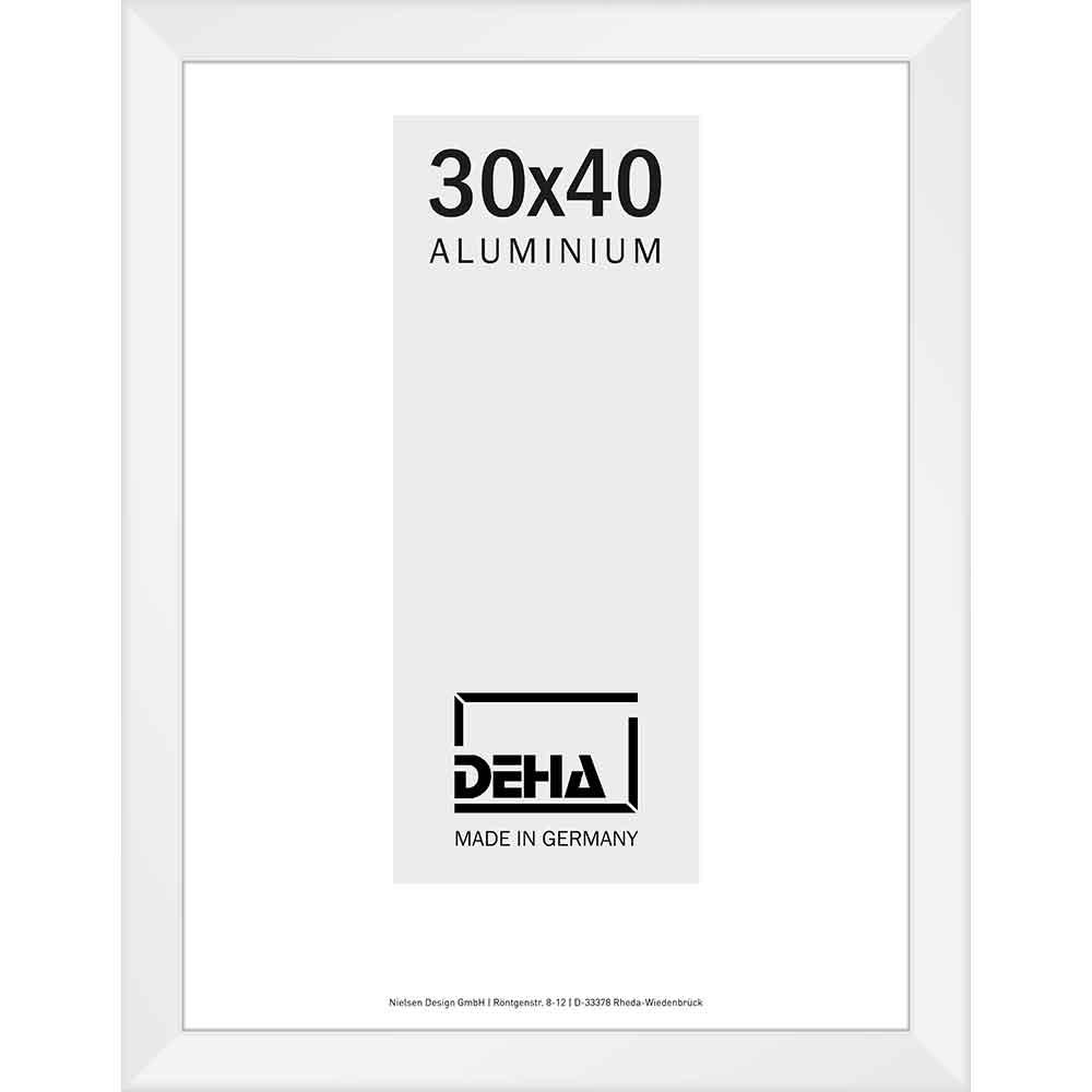 Distansram av aluminium Spika XL måttbeställd vit 9016 | Konstglas