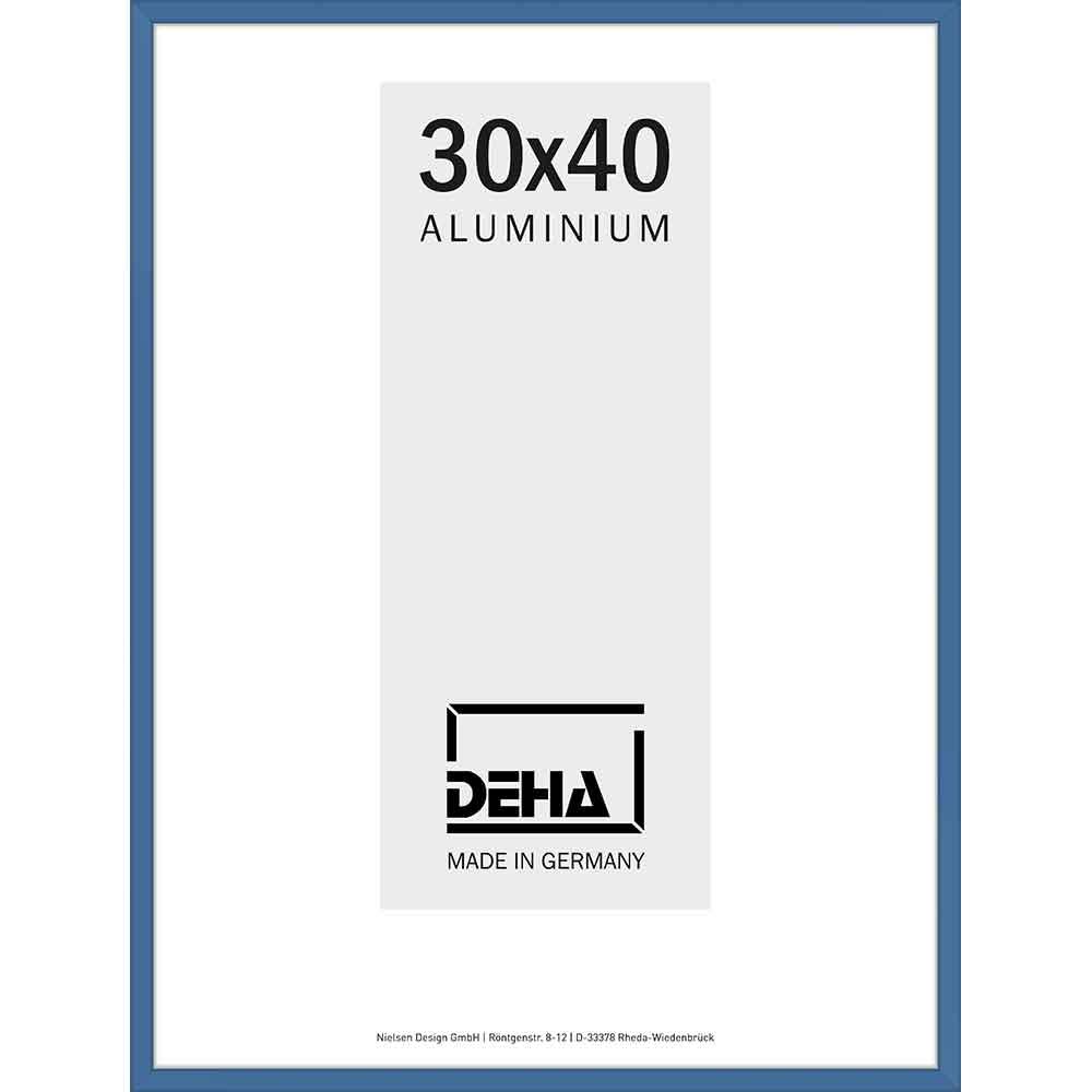 Aluminiumram Superba 60x70 cm | gentiana blå RAL 5010 | Konstglas