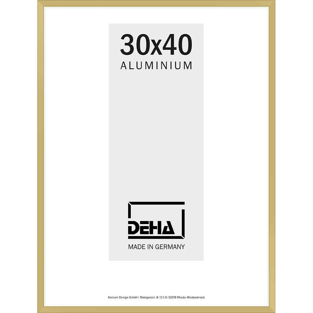 Aluminiumram Superba 60x70 cm | guld matt | Konstglas