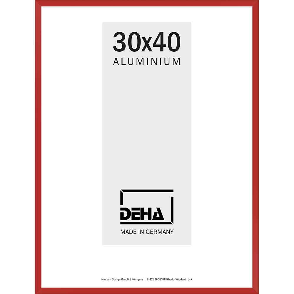 Aluminiumram Superba 70x90 cm | karminröd RAL 3002 | Konstglas