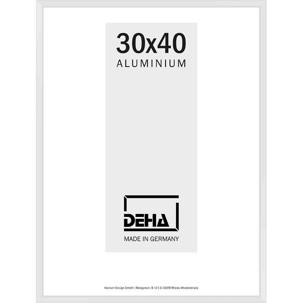 Aluminiumram Superba 60x70 cm | vit 9016 | Konstglas
