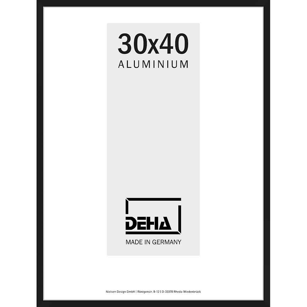 Aluminiumram Superba måttbeställd svart matt   standardt glas