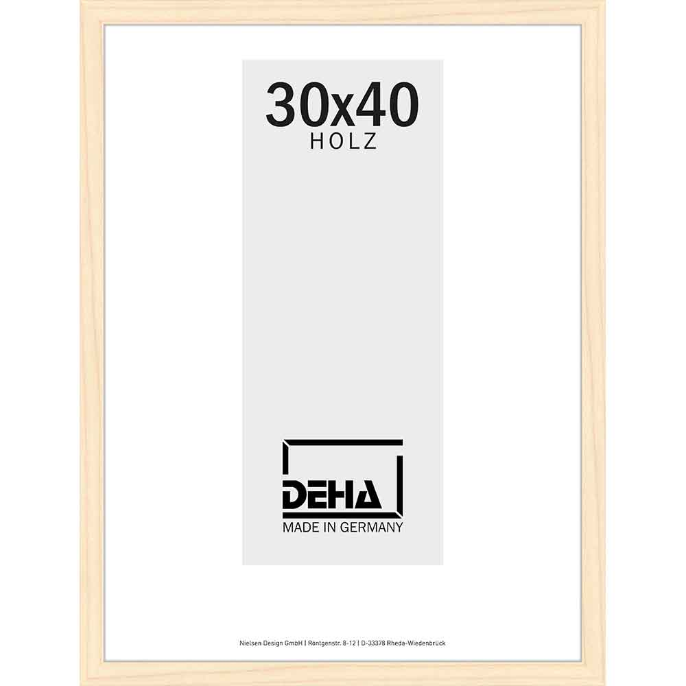 Träram Hamal 70x80 cm   furu, natur, laserad   Konstglas