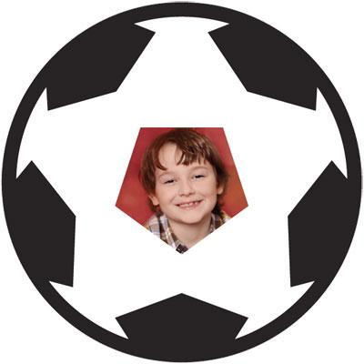 "Motiv-passepartout ""fotboll"""