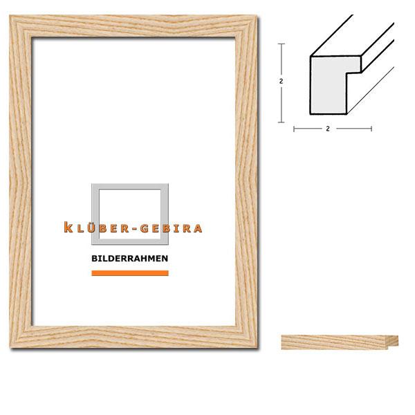 Träram Santiago 42x59,4 cm (A2) | rå ram, ask | standardt glas