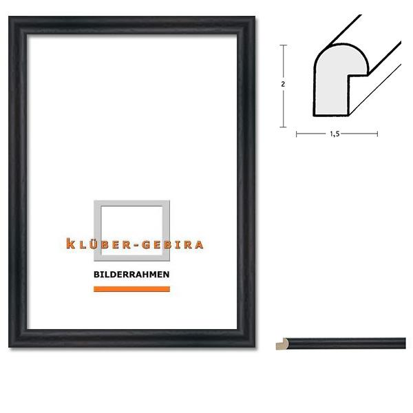 Träram Valladolid 42x59,4 cm (A2) | rundstav svart | standardt glas