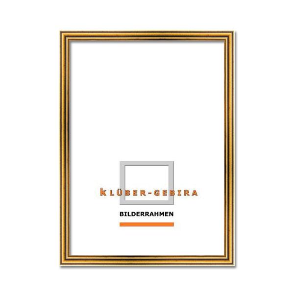Träram Terrassa 20x30 cm   antikguld   Konstglas