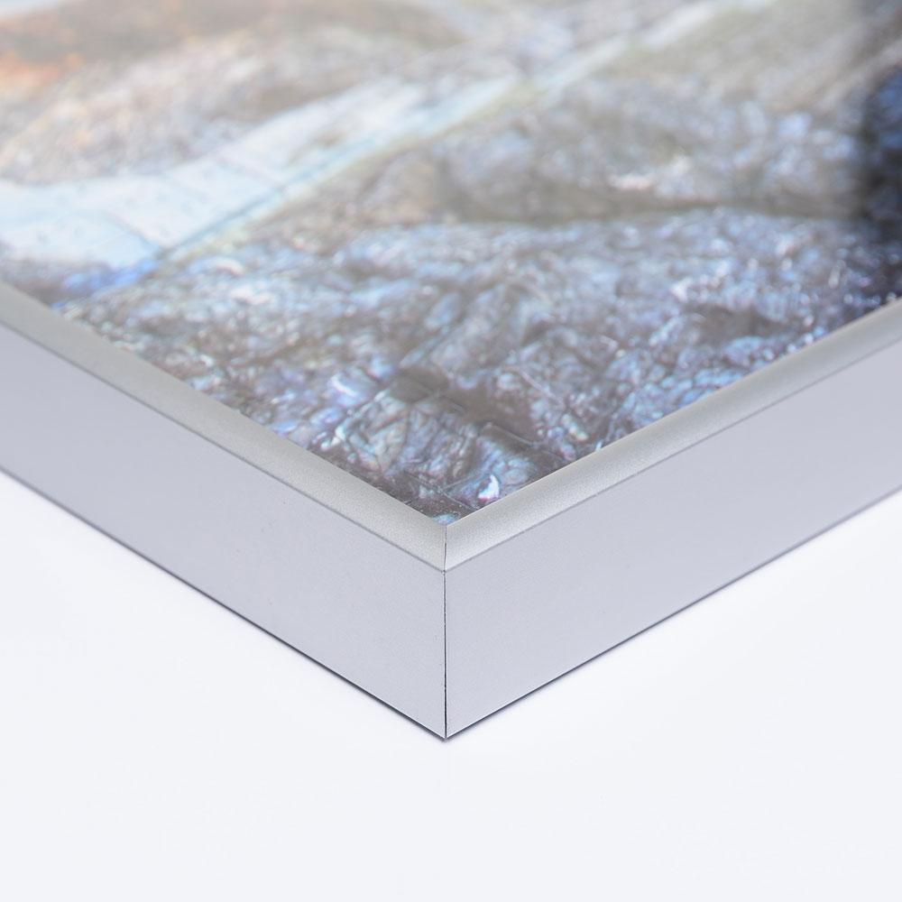 Aluminiumram för pussel för 3000 delar 83,4x117,5 cm   silver matt   Antireflex-Konstglas