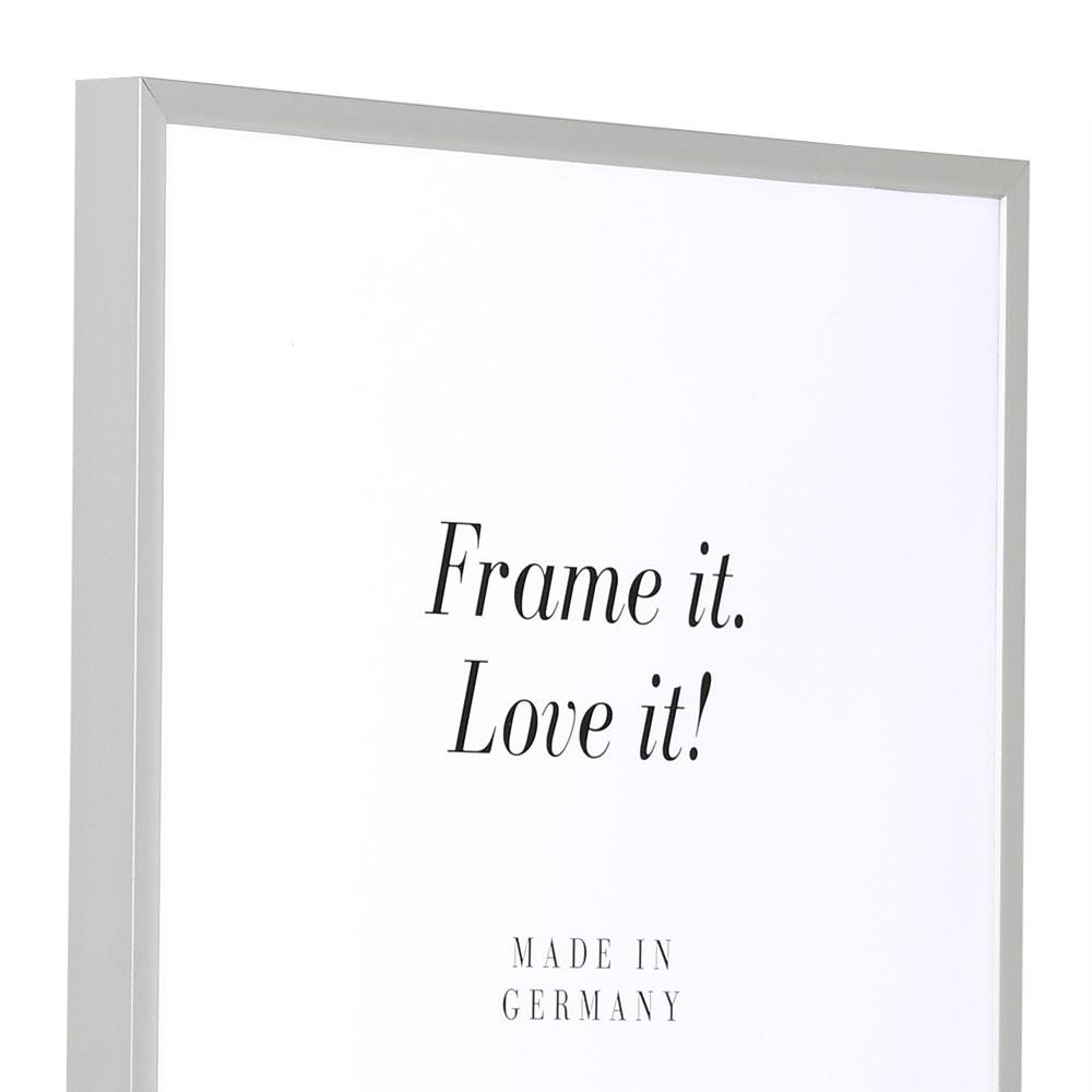 Aluminiumram Econ kantig 42x59,4 cm (A2)   silver matt   standardt glas