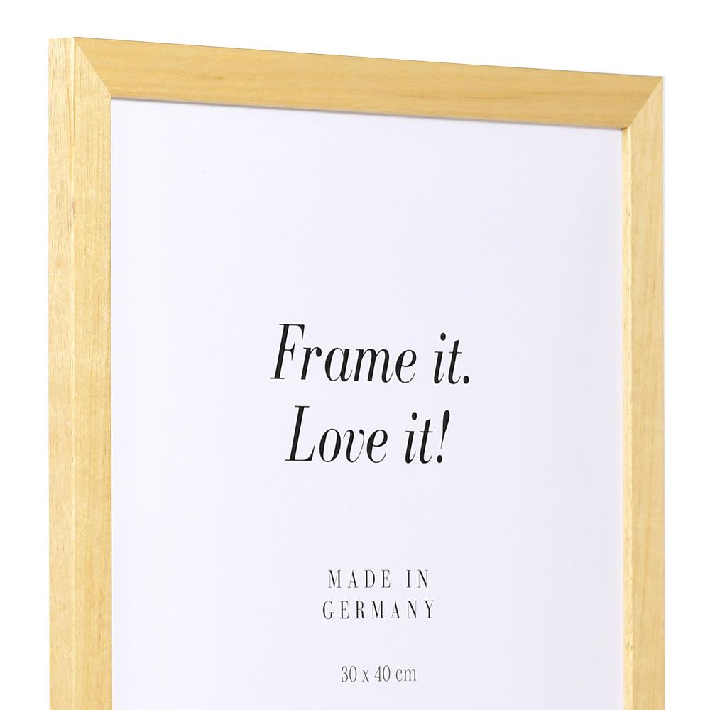 """Spar-ram"" av trä 30x30 cm | natur | standardt glas"