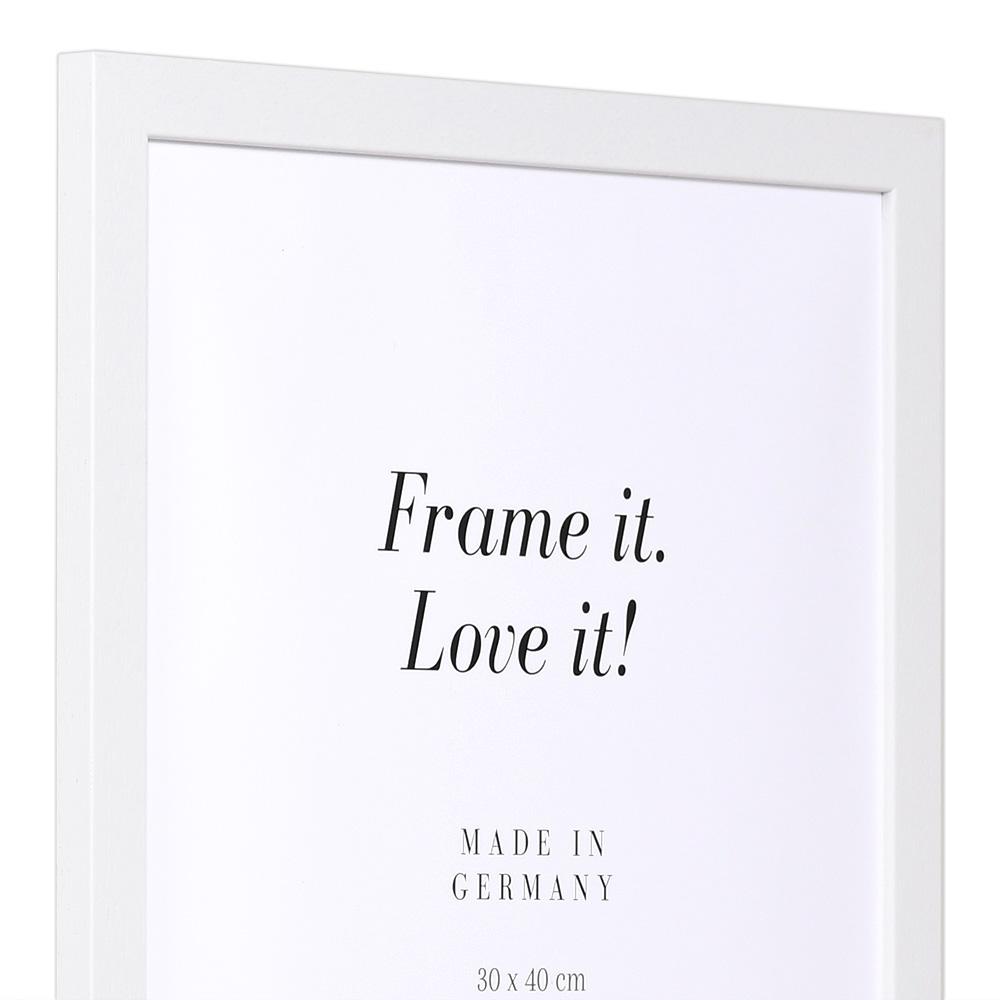 """Spar-ram"" av trä 20x30 cm   vit   standardt glas"