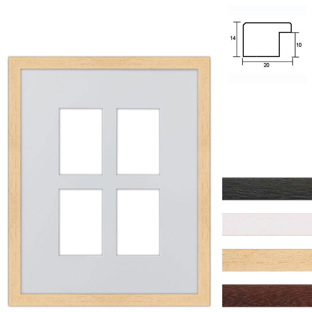 Galleriram av trä i 40x50 cm för 4 foton