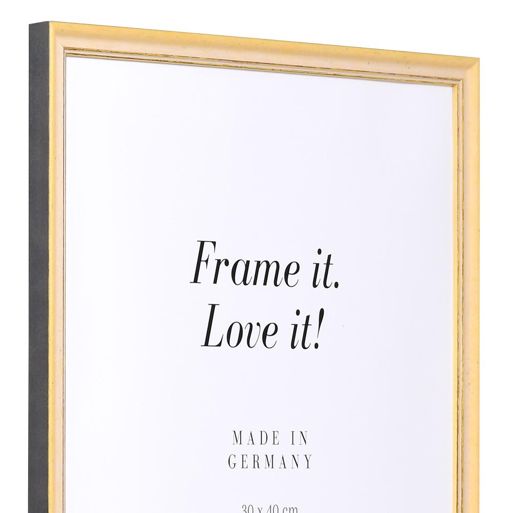 Träram Vannes 18x24 cm | gul-guld | standardt glas