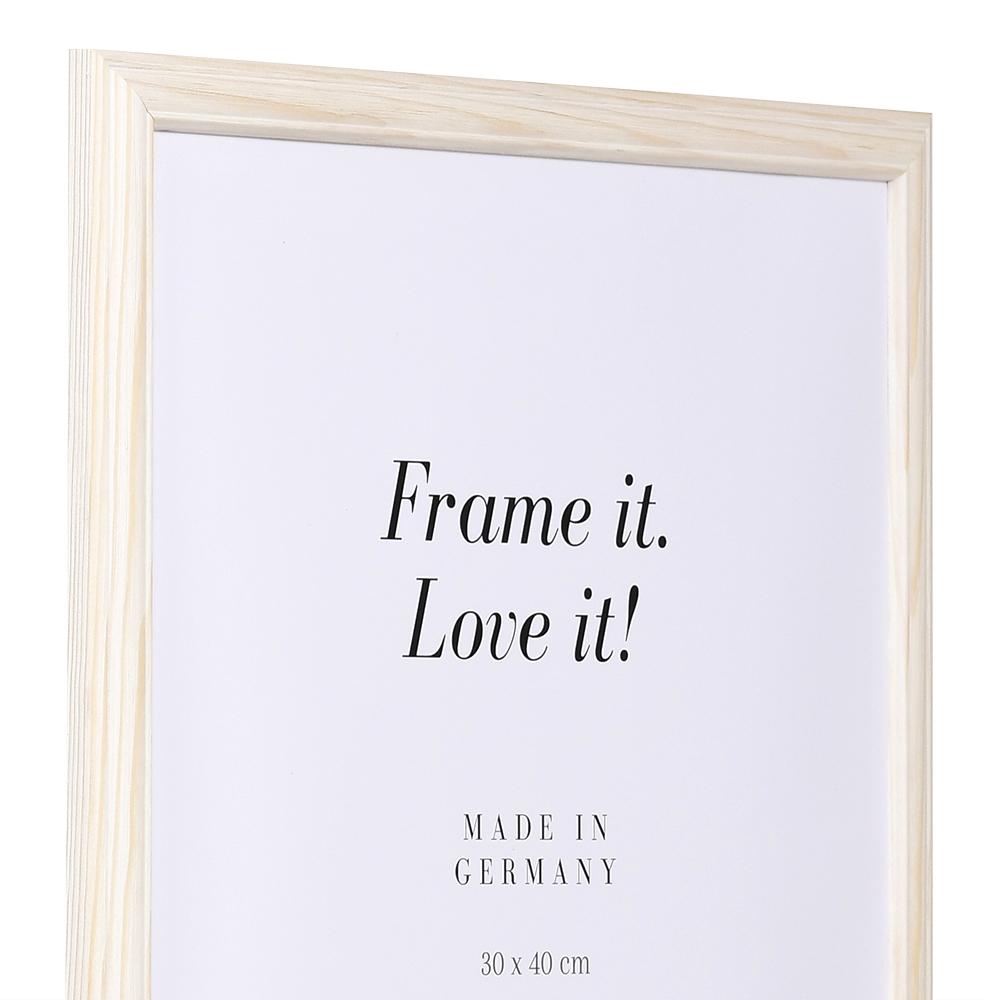 Träram Saint-Michel 9x13 cm | natur-vit | standardt glas