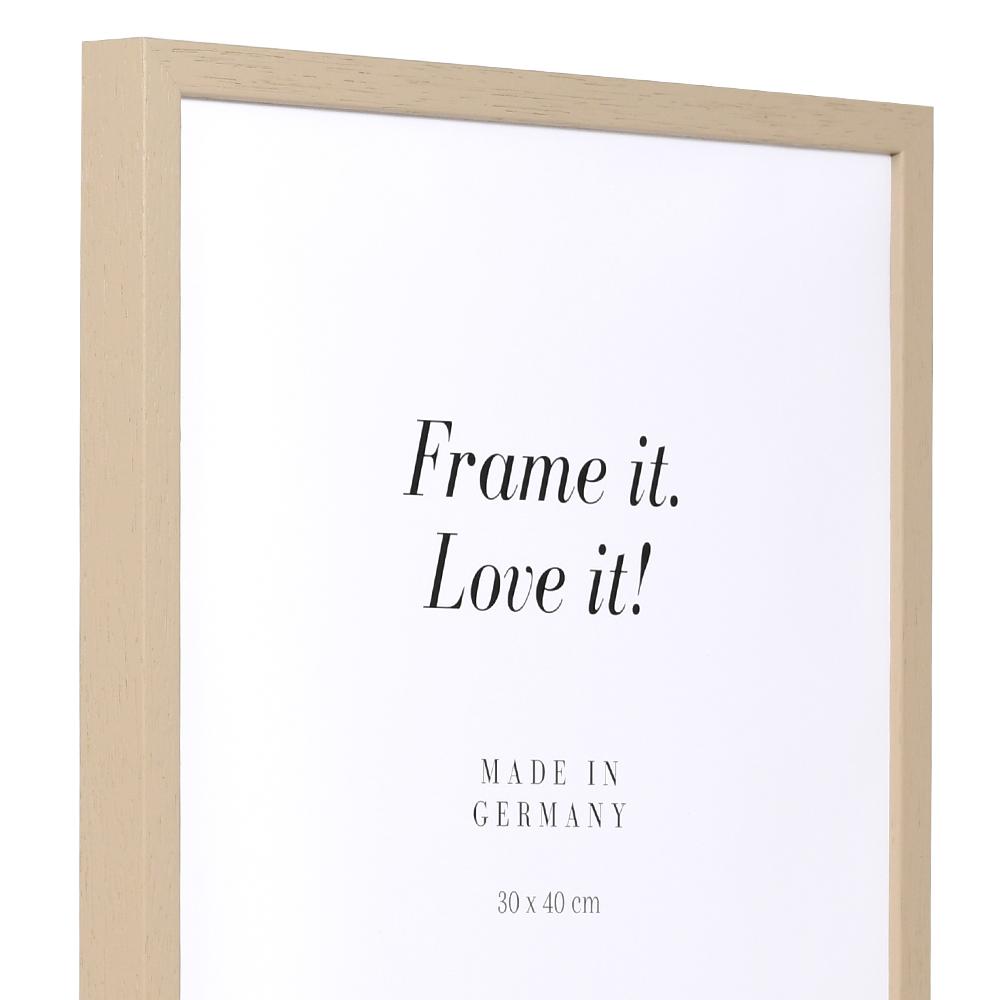 Träram Burgund 20x30 cm | ljusbrun | standardt glas