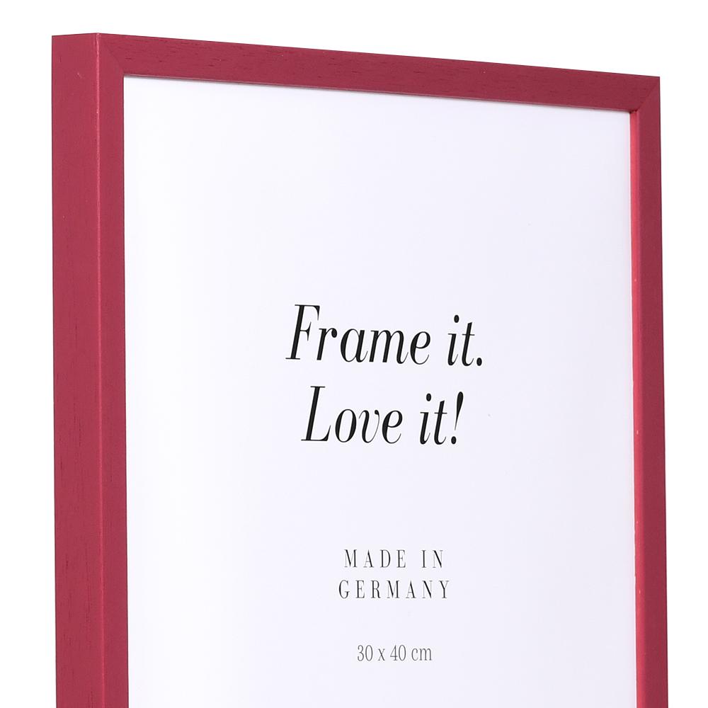 Träram Burgund 9x13 cm | röd | Tom ram (utan glas/baksida)