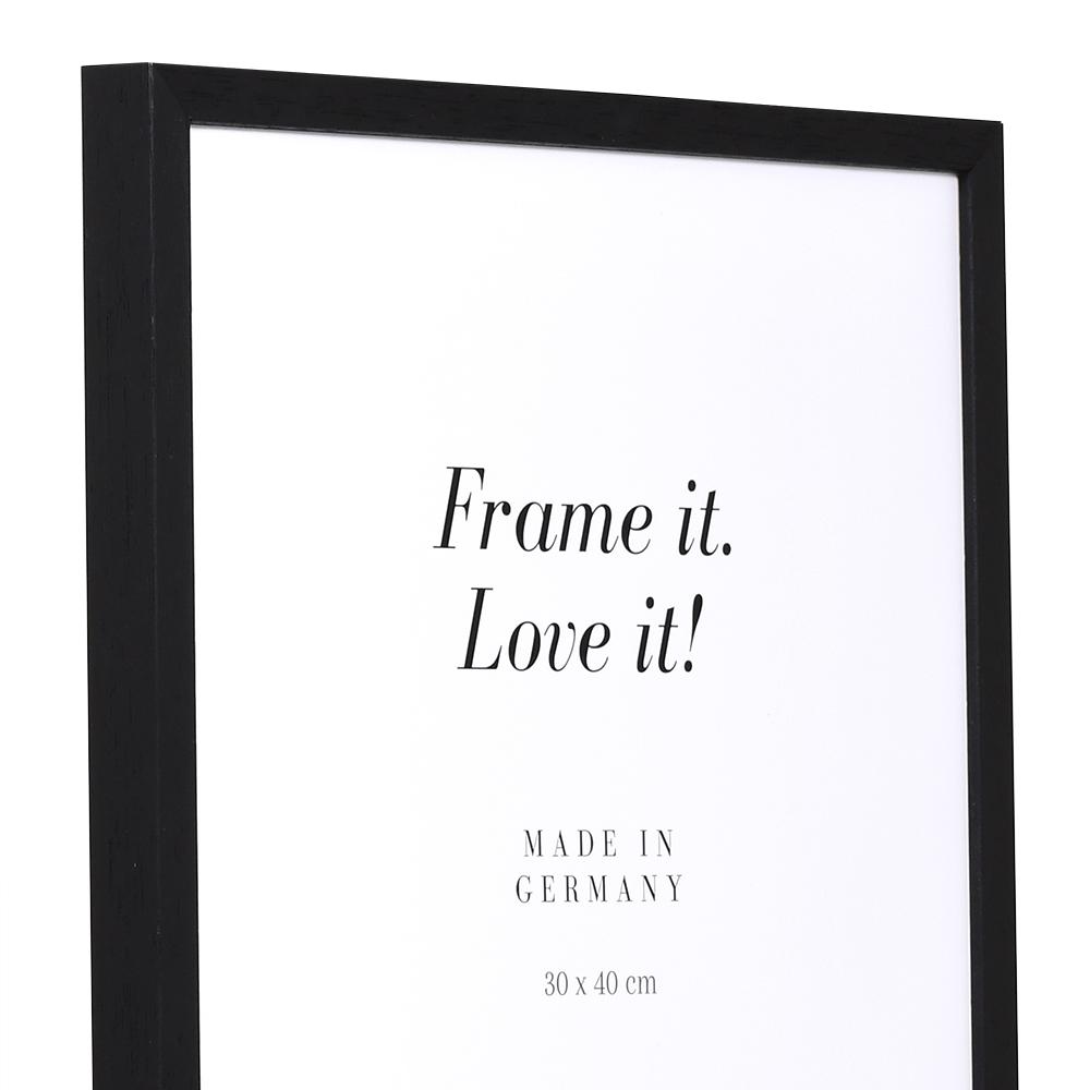 Träram Burgund 9x13 cm | svart | Tom ram (utan glas/baksida)