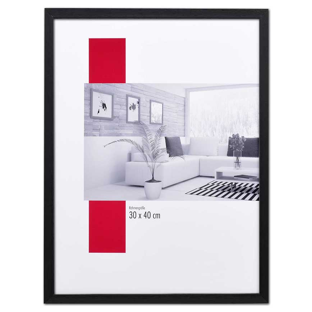 Träram Burgund med distanslist 10x15 cm | svart | standardt glas