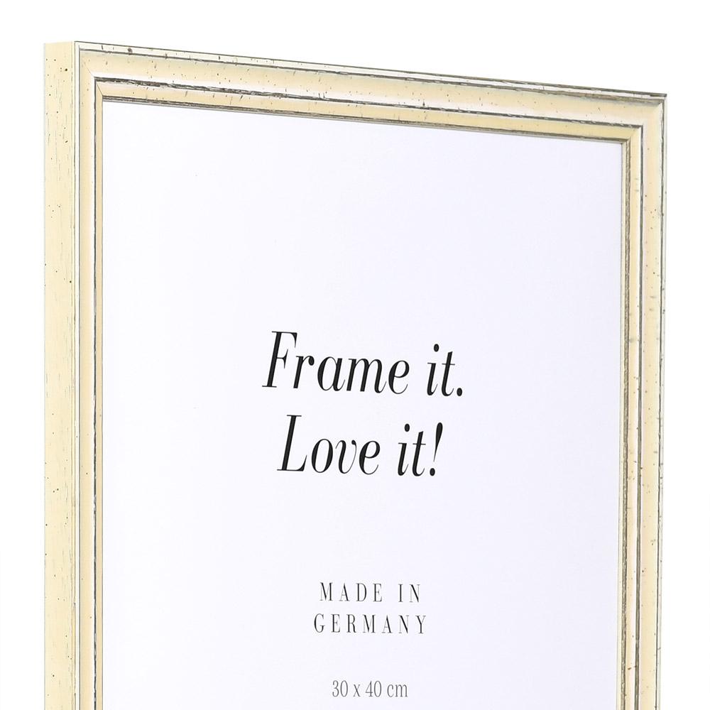 Träram Dijon 18x24 cm   vit   standardt glas
