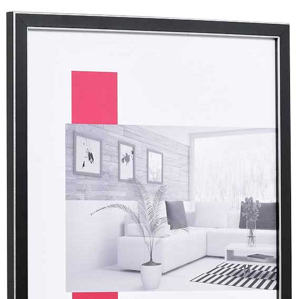 Träram Moulins 13x13 cm | svart | standardt glas