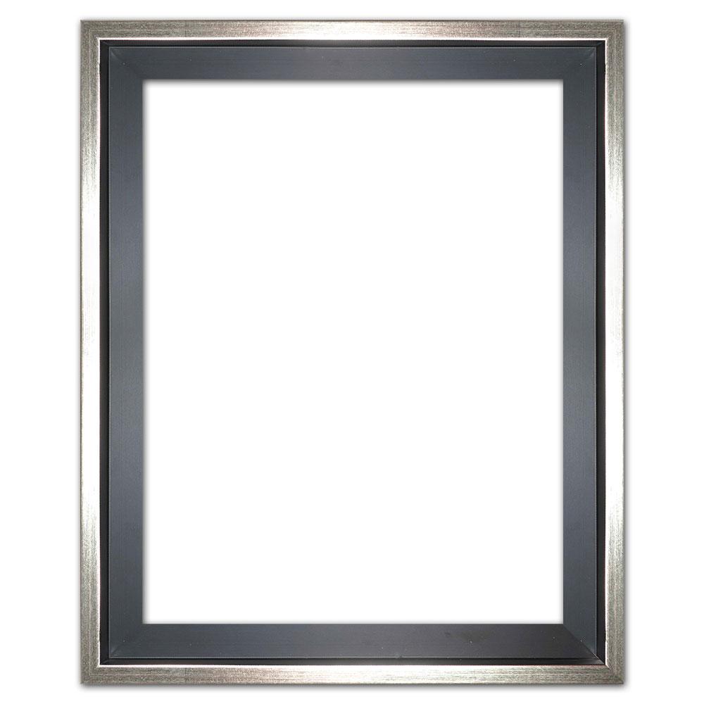 Skuggfogsram Eclipse, svartin efter mått svart med silverkant | Tom ram (utan glas/baksida)