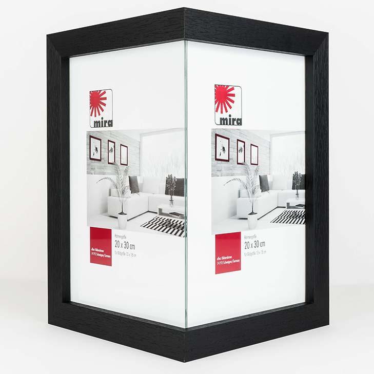 Hörnram 1:1, bred 20x30 cm | natur | standardt glas