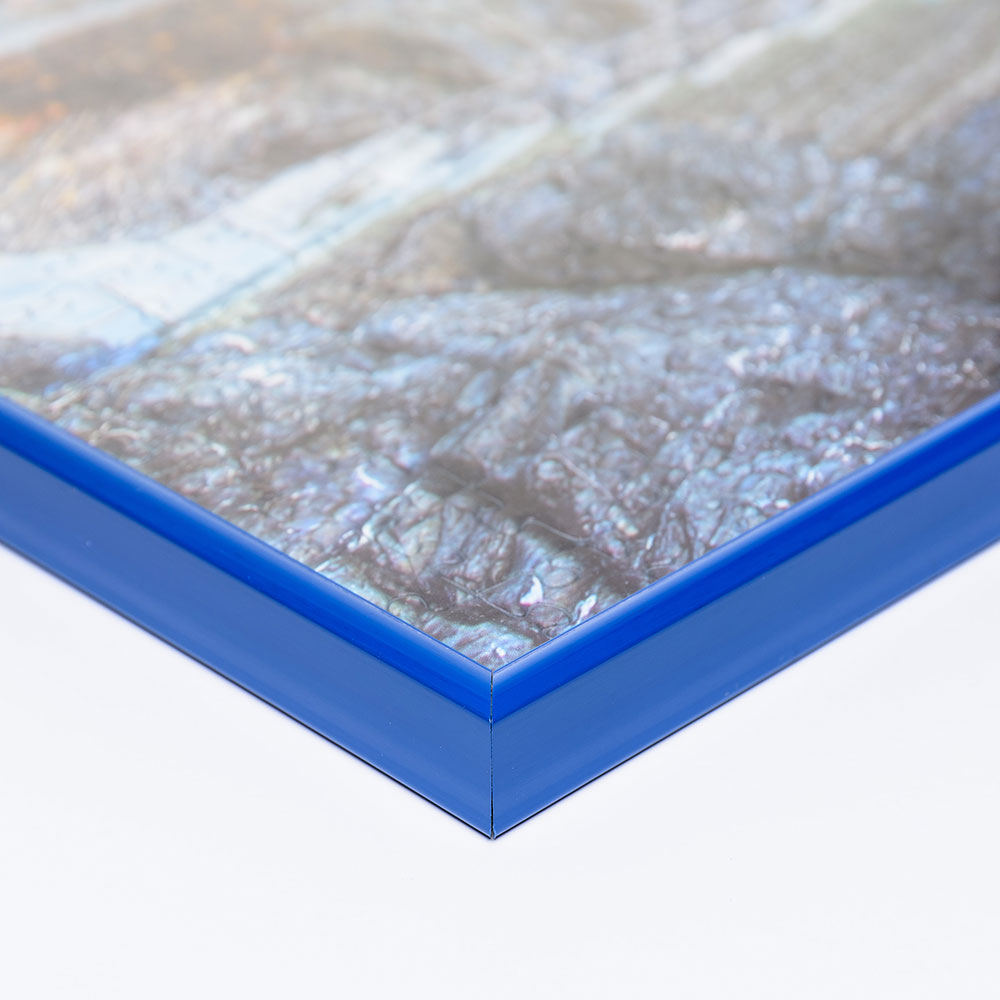 Plast-pusselram för 1500 delar 60x80 cm | blå | Antireflex-Konstglas