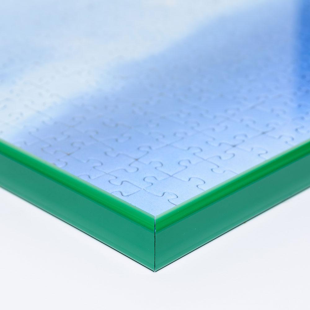Plast-pusselram för 1500 delar 60x80 cm | grön | Antireflex-Konstglas