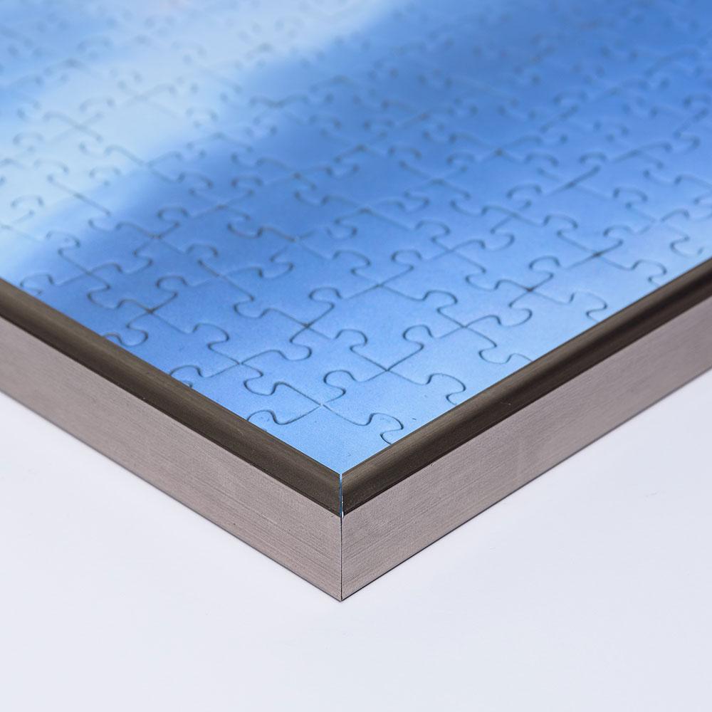 Plast-pusselram för 1500 delar 60x80 cm | platina | Antireflex-Konstglas