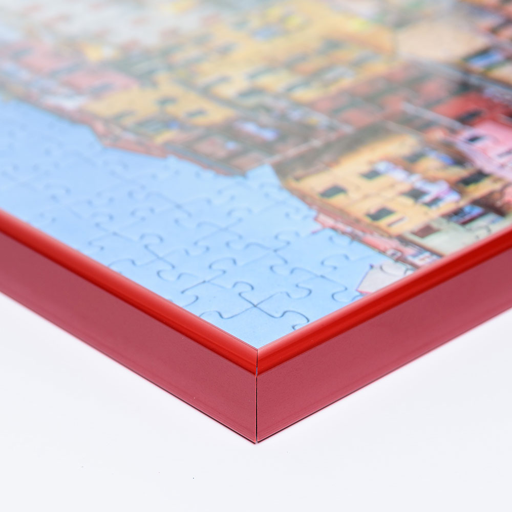 Plast-pusselram för 1500 delar 60x80 cm | röd | Antireflex-Konstglas